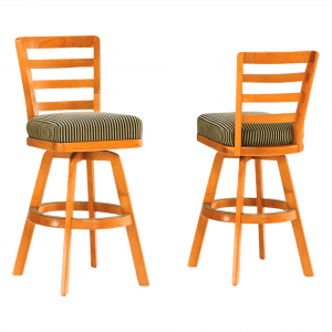 S3581 Ladder Back Armless Swivel Stool