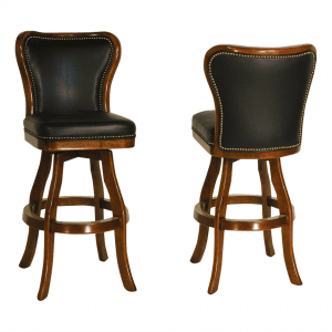 S4250 Bar Counter Armless Swivel Stool w Nailheads