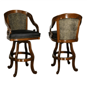S5870 Bar Counter Swivel Stool w Nailheads