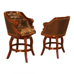 S6692E Elephant Safari Bar Counter Swivel Stool