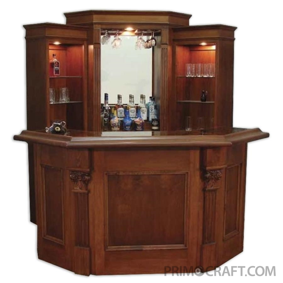 Camden Custom Wood Home Bar