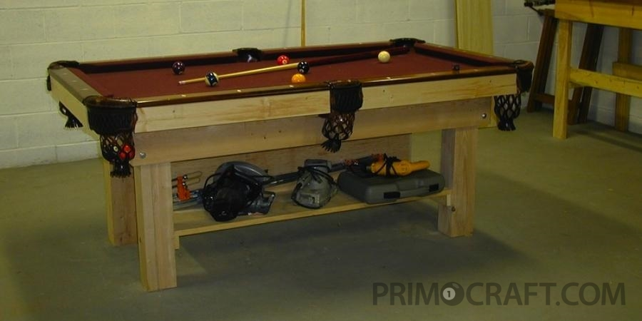 Work Bench Combo Custom Billiard Pool Table
