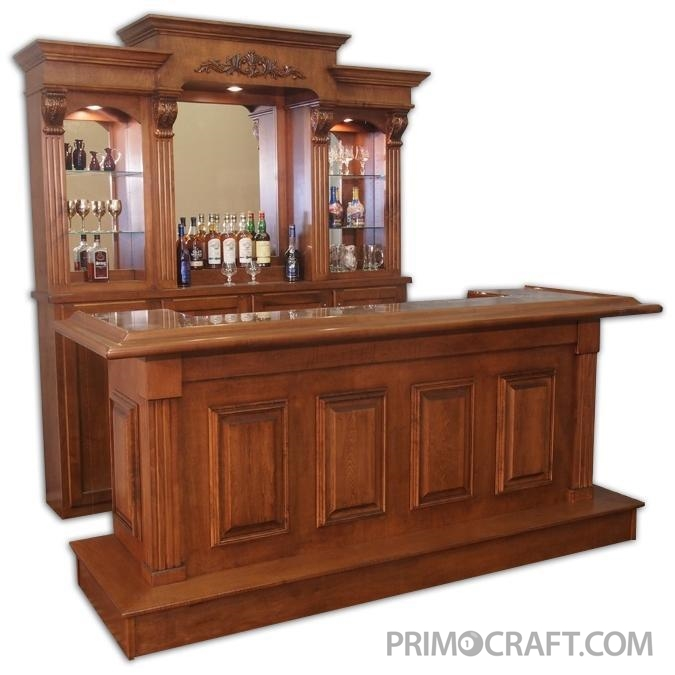 Princeton Custom Wood Home Bar