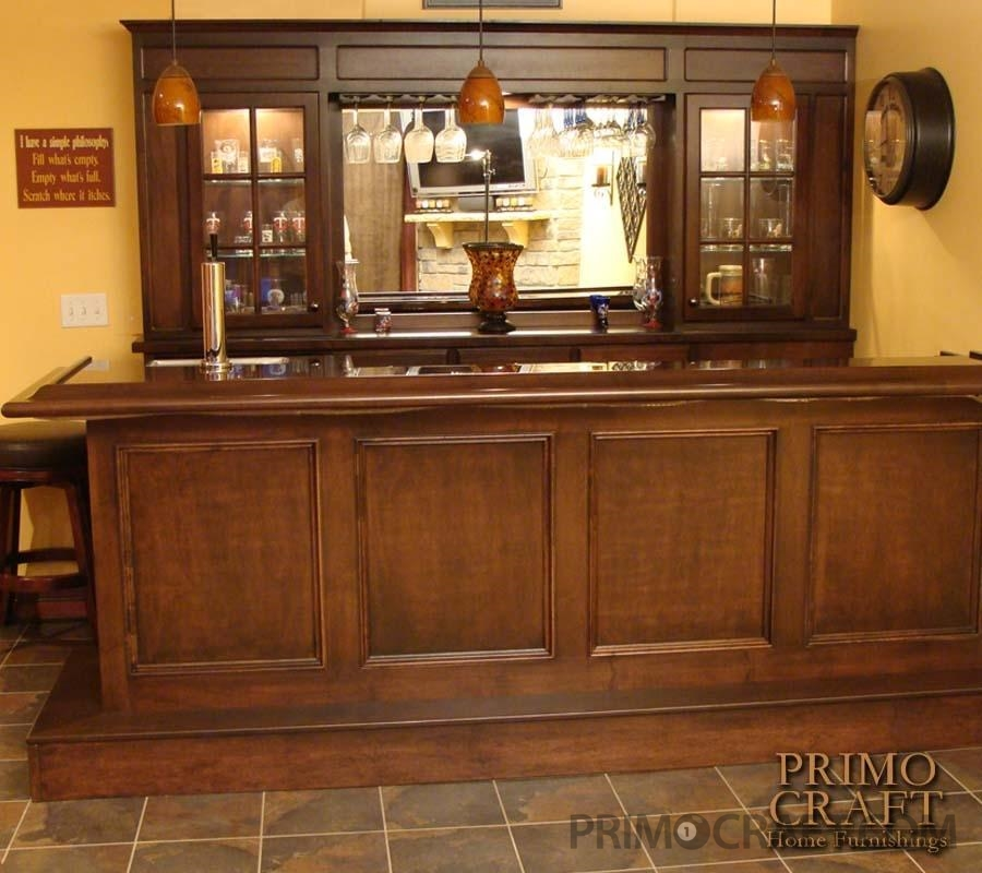 Fletcher Custom Wood Home Bar