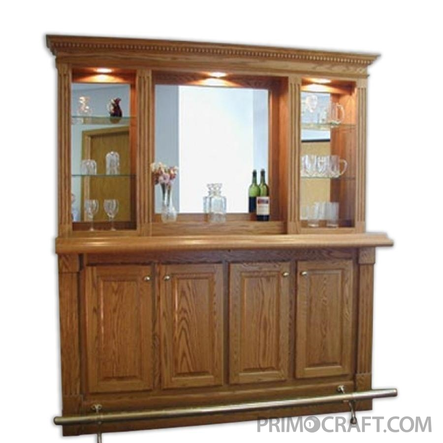 Manhattan Custom Wood Home Bar