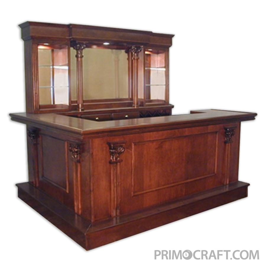 Staten Island Custom Wood Home Bar