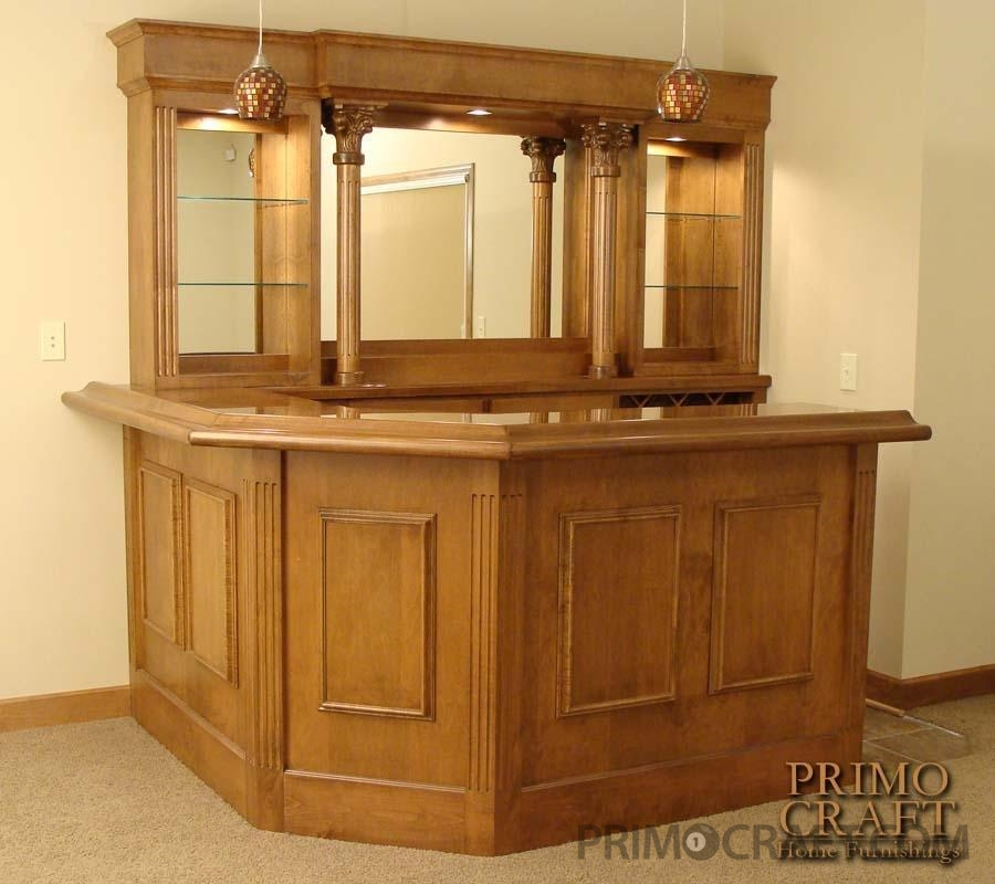 Jorgensen Custom Wood Home Bar