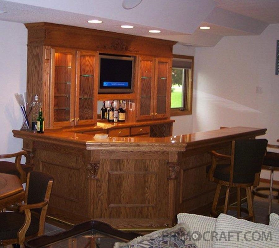 Connolly Custom Wood Home Bar