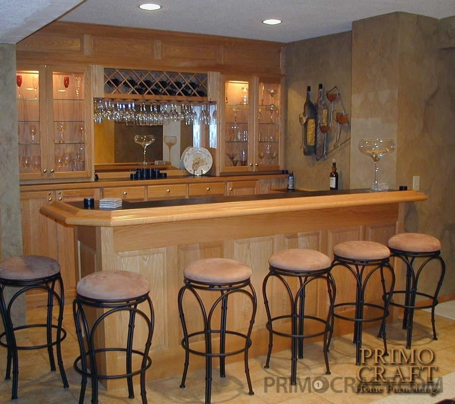 McNulty Custom Wood Home Bar