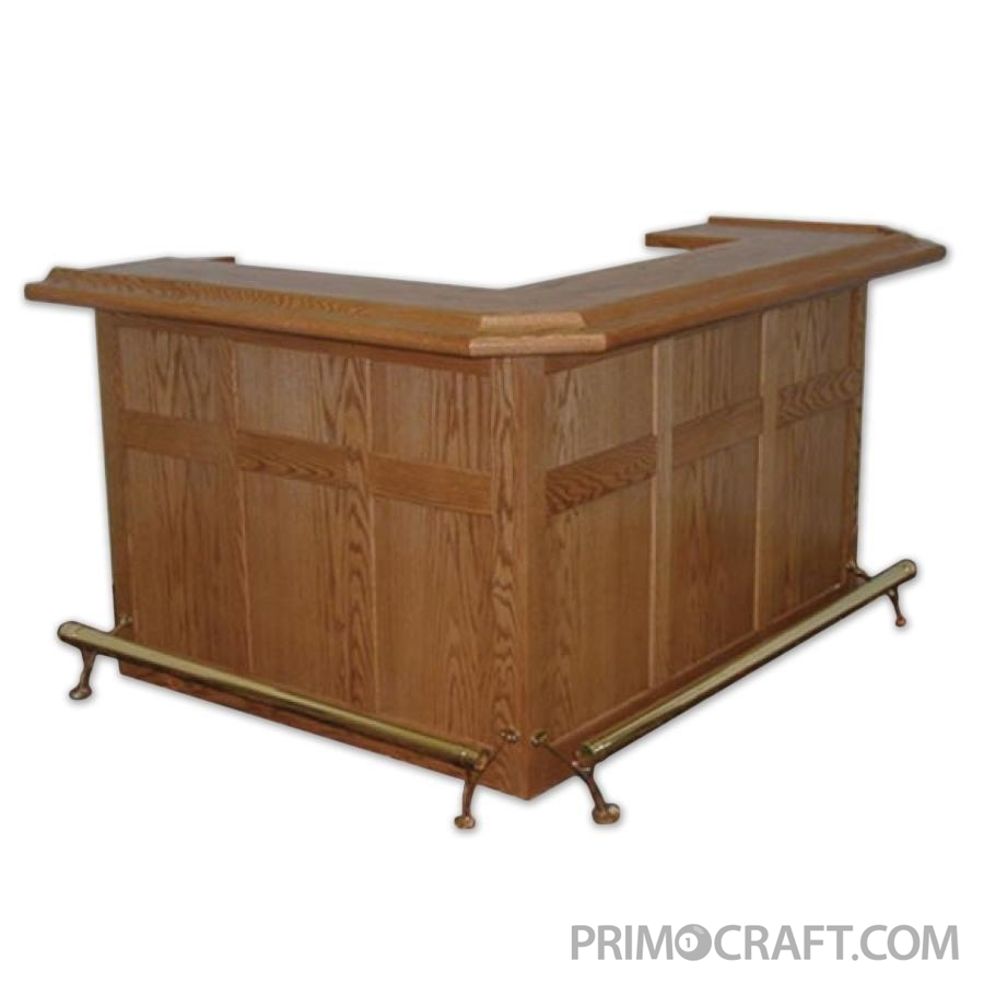 Hampton Flat Custom Wood Home Bar