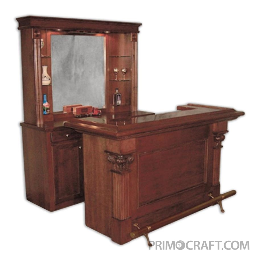 Chicago Deluxe Custom Wood Home Bar