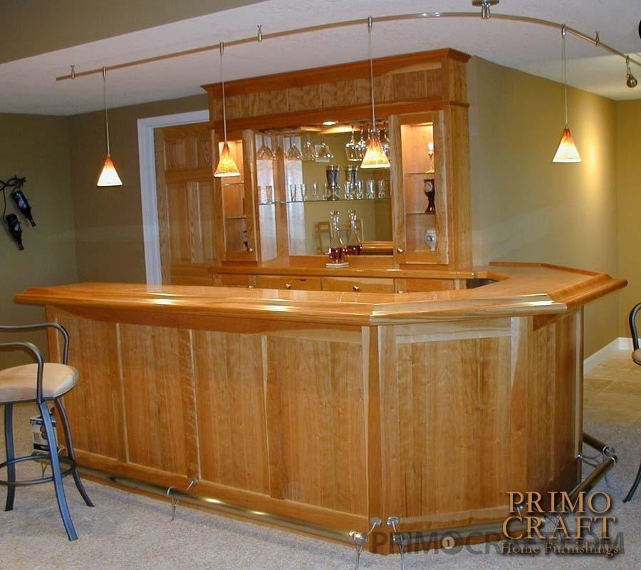 Driver Custom Wood Home Bar