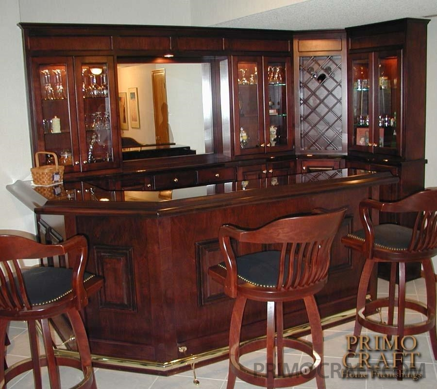 Nelson Custom Wood Home Bar