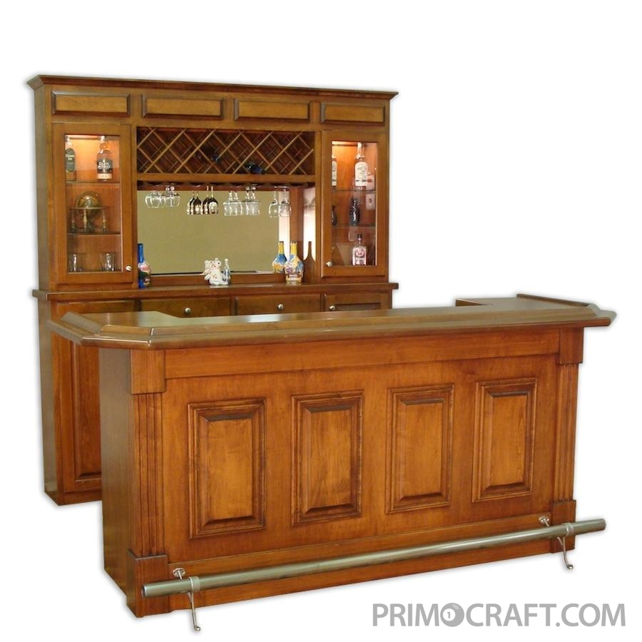 Bridgeport Custom Wood Home Bar