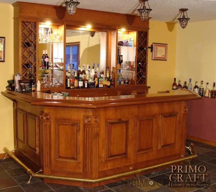 Defilio Custom Wood Home Bar