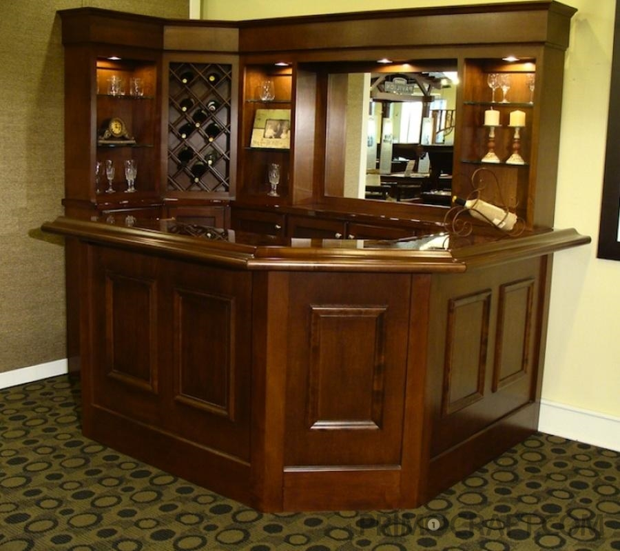 Ivy League Custom Wood Home Bar