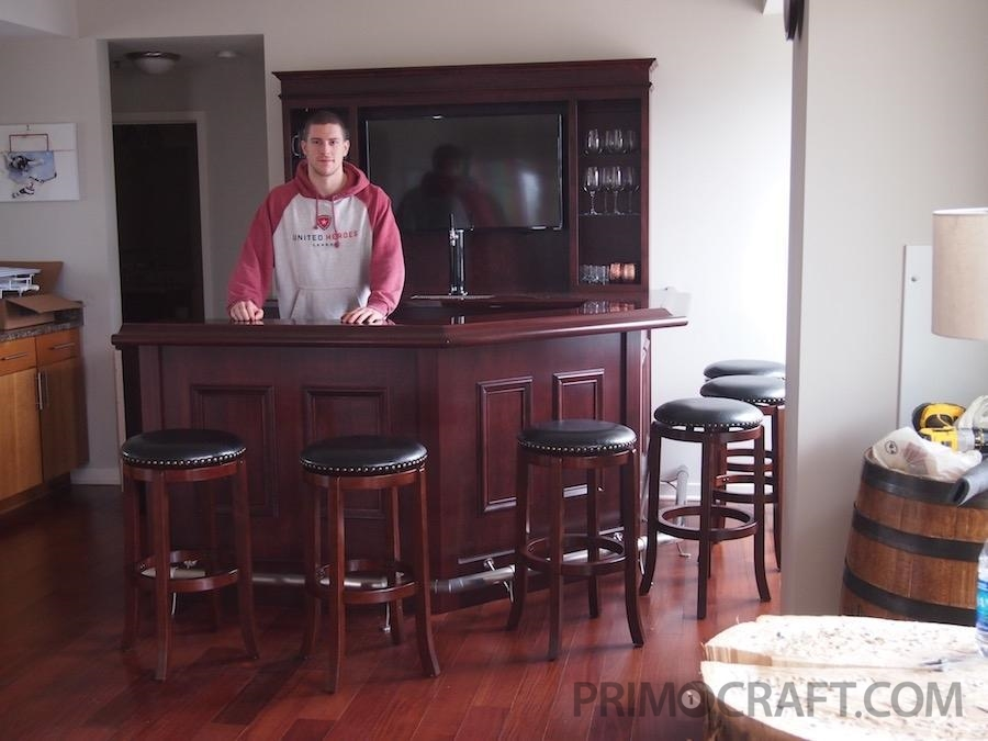 Home bar for Charles Coyle of the Minnesota wild hockey team