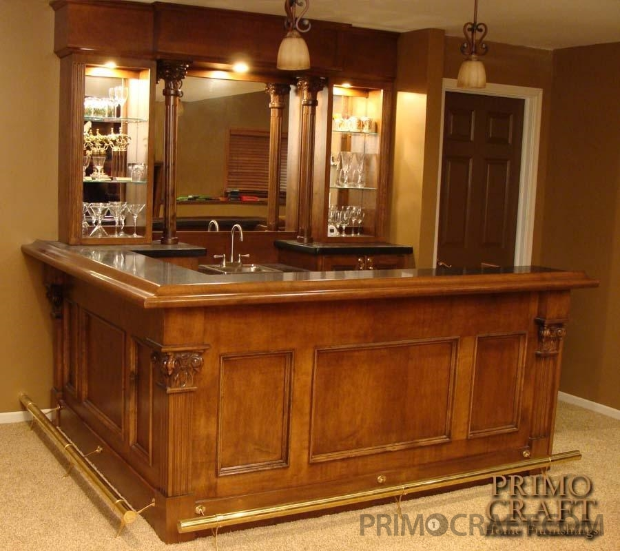 Barca Custom Wood Home Bar