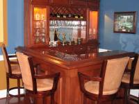 Hanson Custom Wood Home Bar