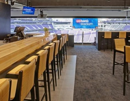 Lodge Bar at New Vikings Stadium